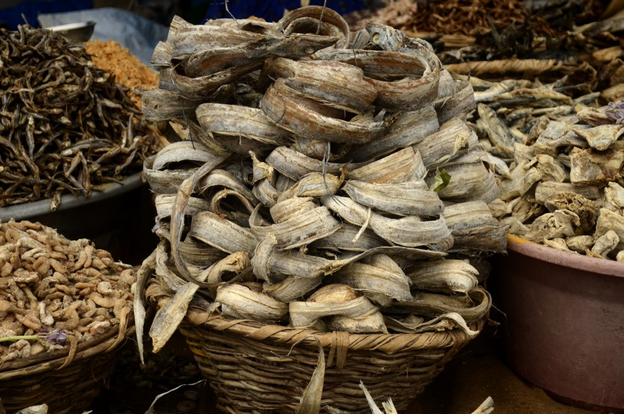 Dried fish for sales in Poompuhar JEG6153