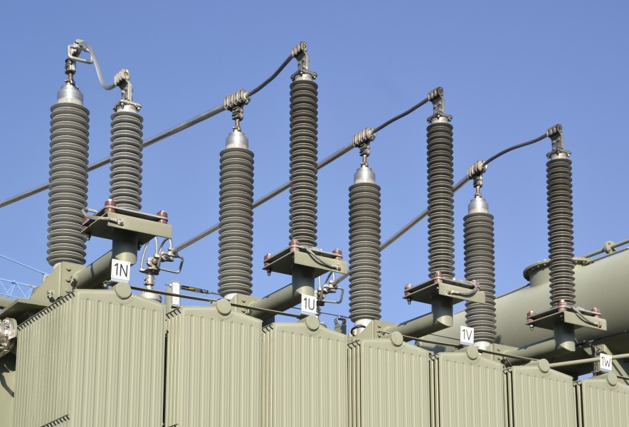Electric insulators on top of a transformer (2)