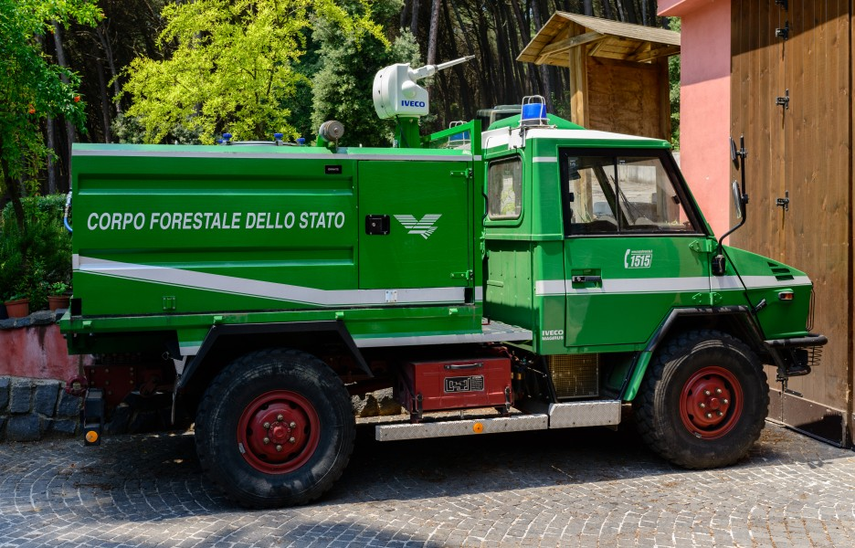 Fire engine - Iveco - National Park Vesuvius - Campania - Italy - July 9th 2013
