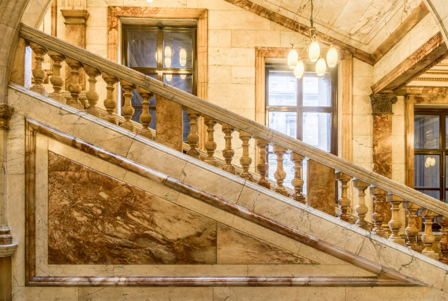 Glasgow City Chambers - Carrara Marble Staircase - 1