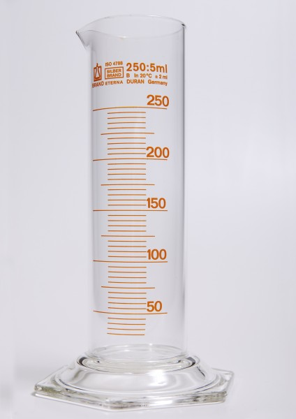 Glass graduated cylinder-250ml 1