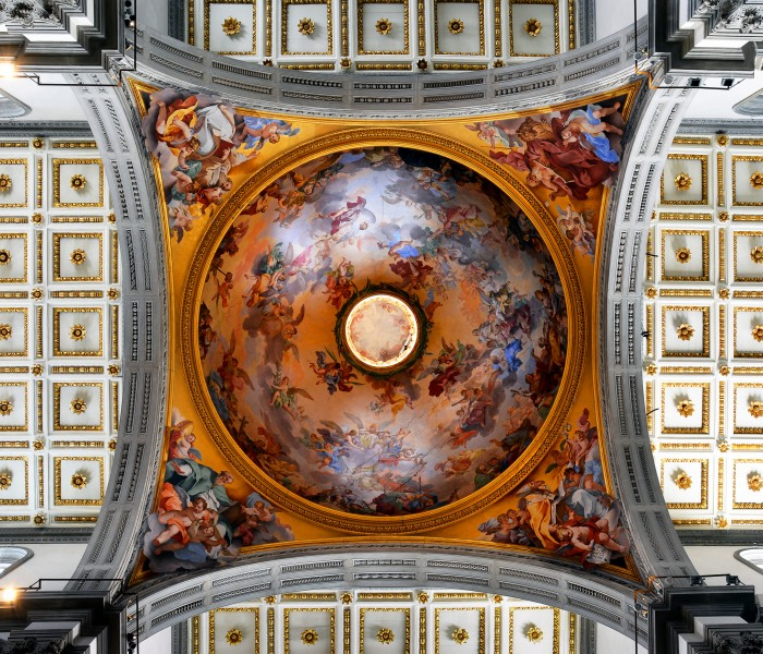 Glory of Florentine Saints on the dome in San Lorenzo (Florence)