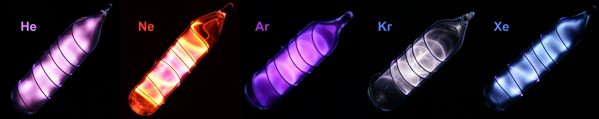 Glowing noble gases