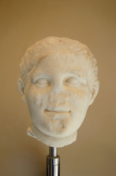 Head of man in Museum of Taranto