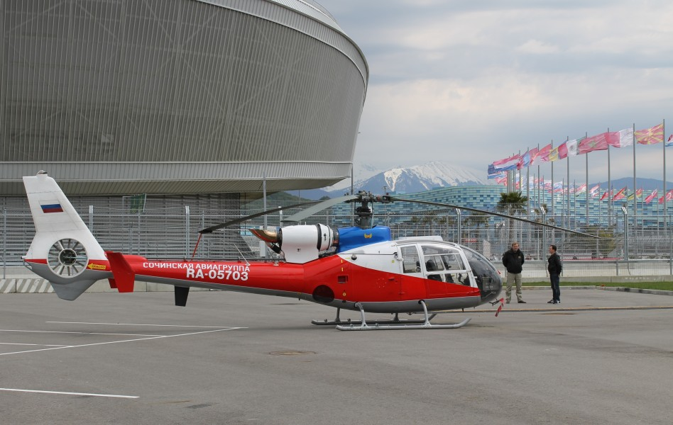 Helicopter in Sochi Olympic park1