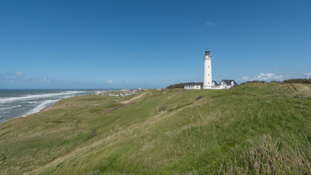Hirtshals Lighthouse, Southwest view 150601 1