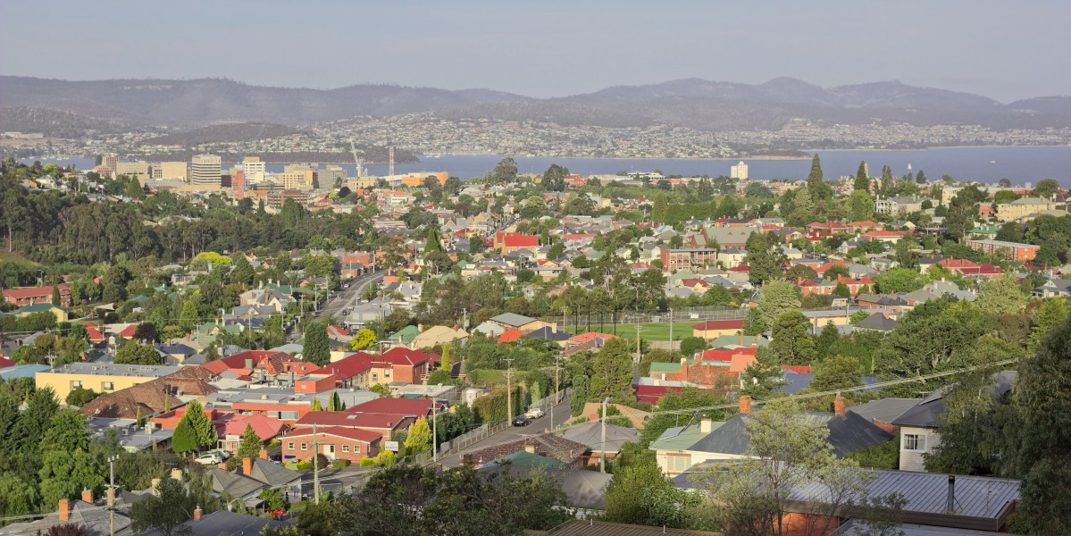 Hobart seen from the east