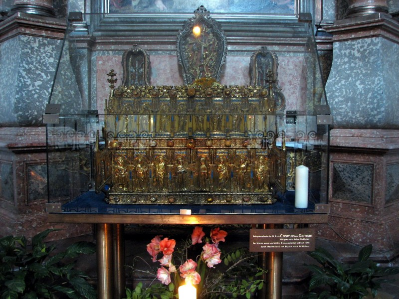 Holy Cosmas and holy Damian shrine in St. Michael in Munich