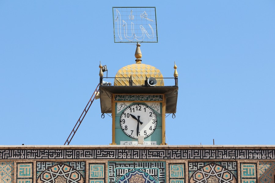 Jameh Mosque, Kerman - clock