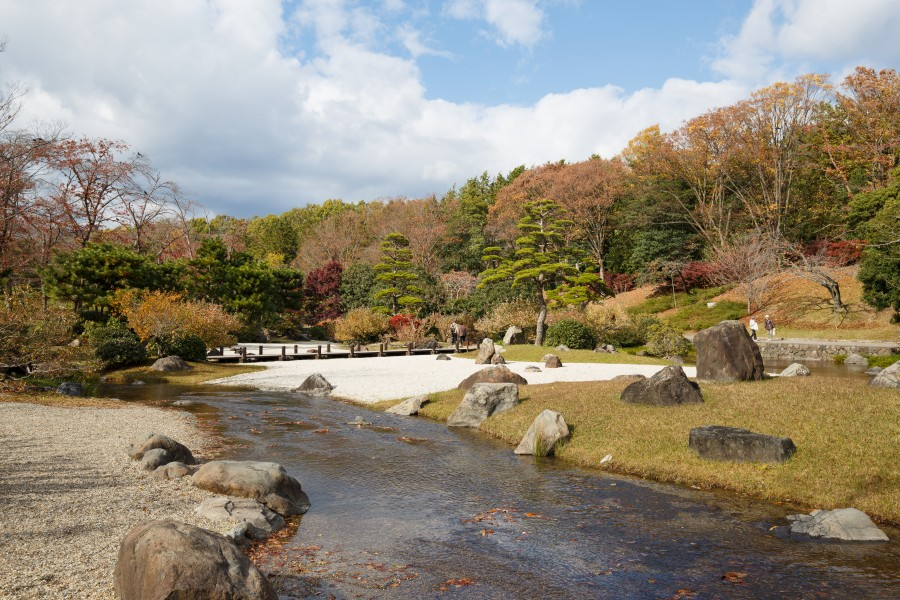 Japanese garden scenery at Expo'70 Commemorative Park in Osaka, November 2017 - 146