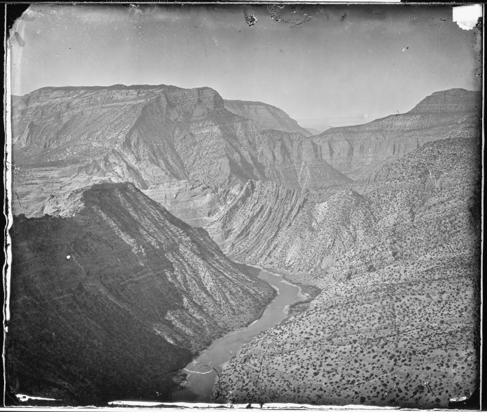 Junction of Yampa and Green River Canyons. Northern Colorado - NARA - 519481