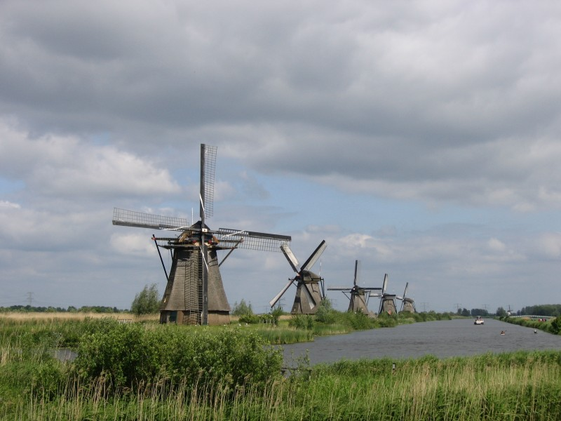 Kinderdijk in Netherlands, 2006