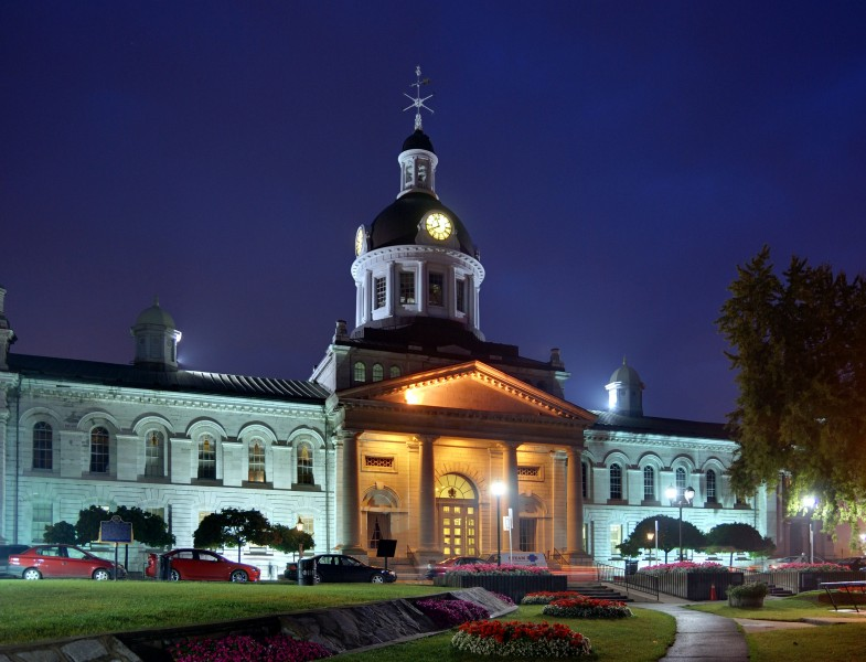 Kingston - ON - Town hall at night2