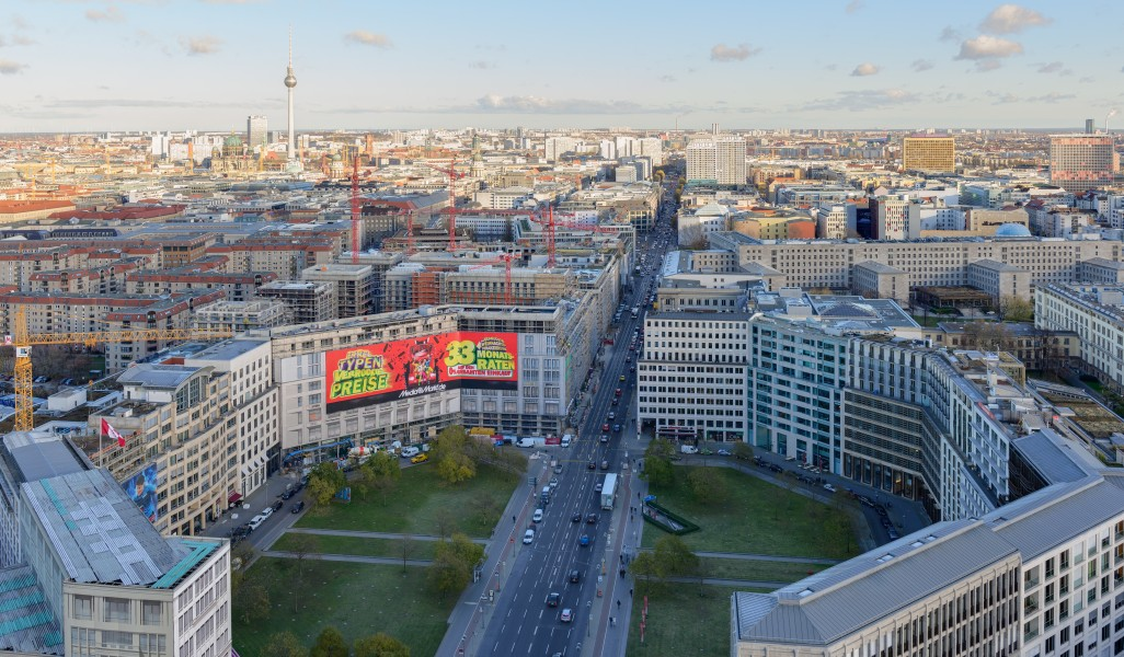 Leipziger Platz and Leipziger Straße from Kollhoff-Tower November 2013