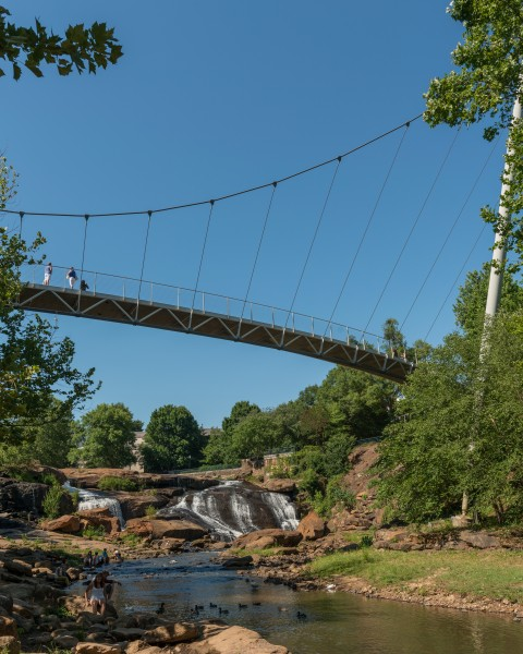 Liberty Bridge, Falls Park on the Reedy, Greenville SC 20160701 1