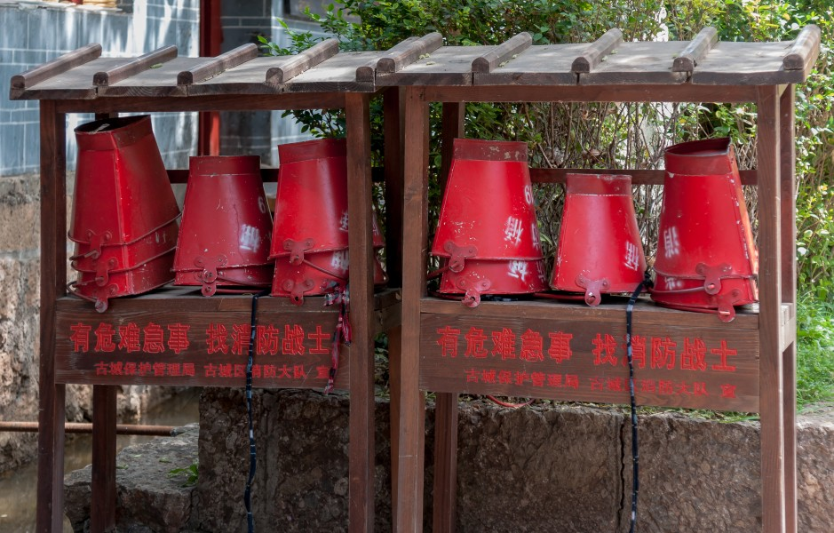 Lijiang Yunnan China-Firefighting-Equipment-in-Old-Town-01