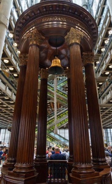 Lloyd's Building - Lutine Bell in the rostrum