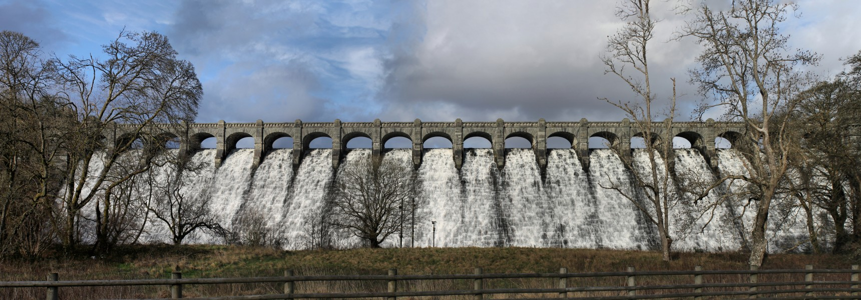 Llyn Llanwddyn - Vyrnwy Dam, Powys, Wales built over a village to supply water to Liverpool 45
