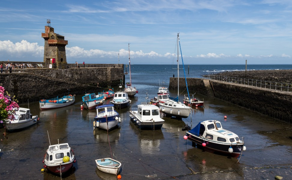 Lynmouth (Devon, UK), Harbour -- 2013 -- 2