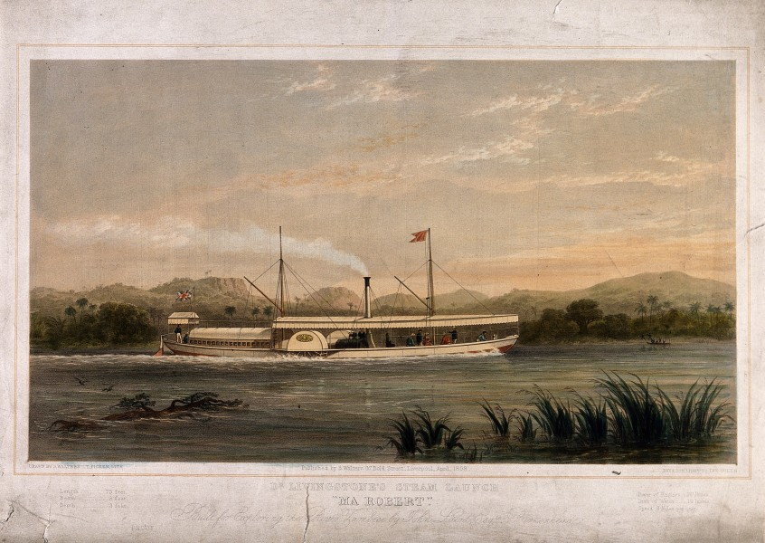 Ma Robert, D. Livingstone's steam boat on which he explored Wellcome V0018833