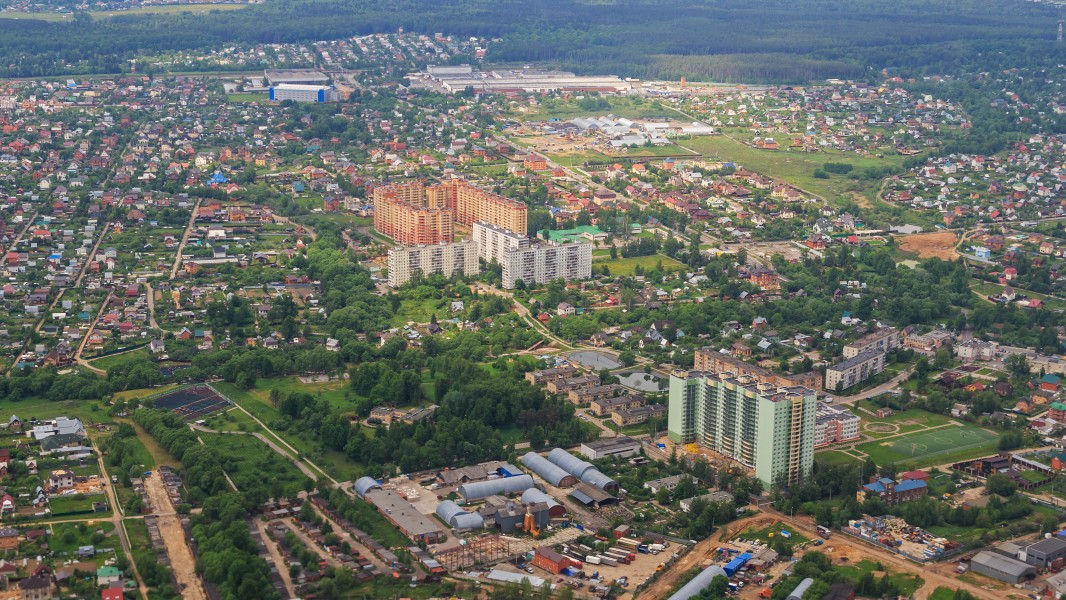 Marushkino in New Moscow - aerial view 05-2015