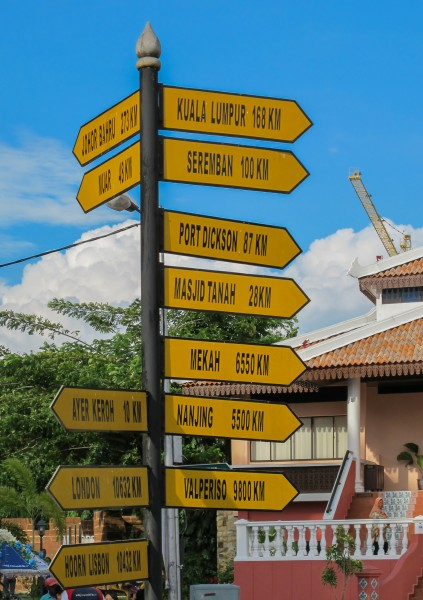 Melaka Malaysia Signpost-at-Stadhuys-Red-Square-01