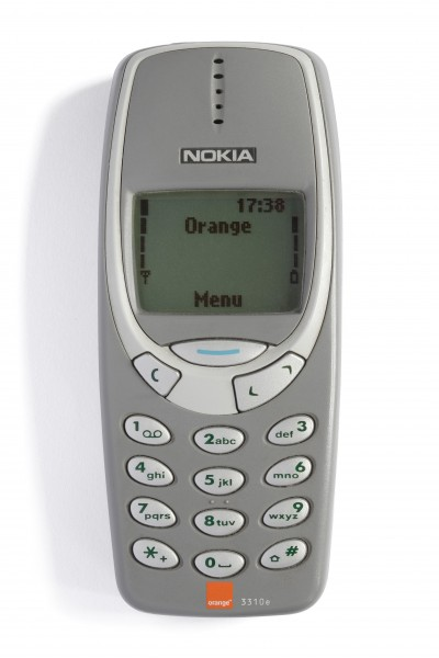 Nokia 3310 grey front (tidied and enhanced)