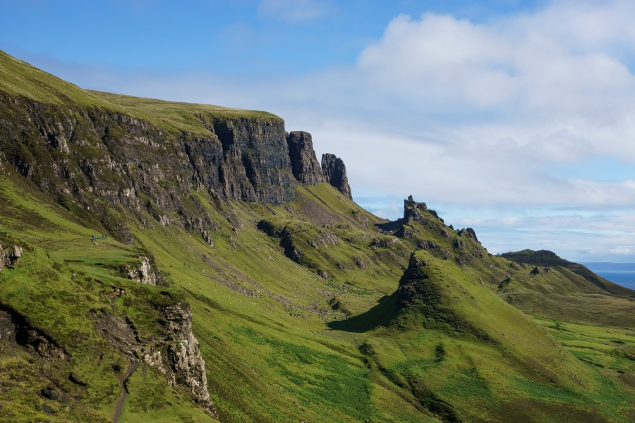 North over the Quiraing, Isle of Skye
