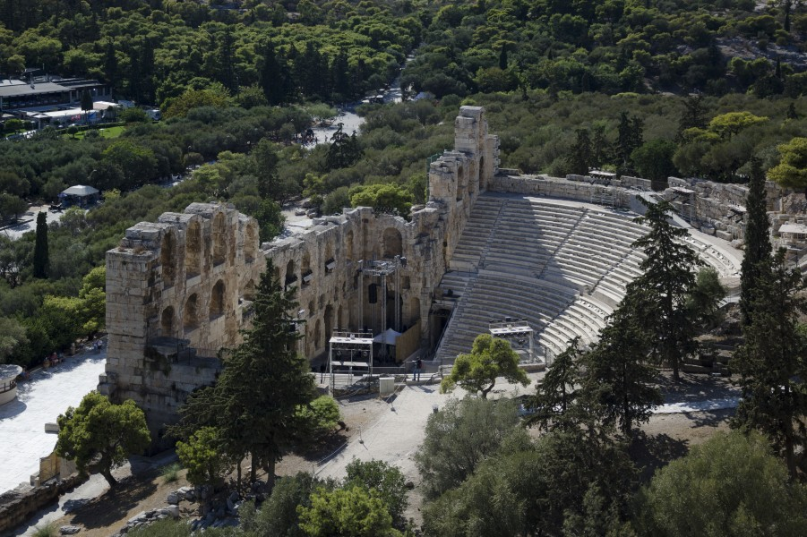 Odeion of Herodes Atticus (east view) in 2017
