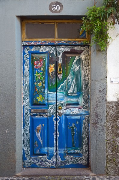 Painted door (Legend). Funchal, Madeira