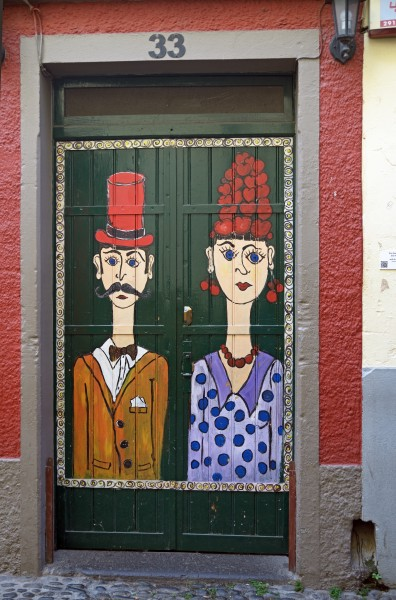 Painted door (Pair). Funchal, Madeira