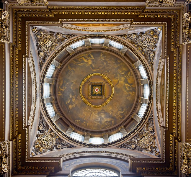 Painted Hall dome interior