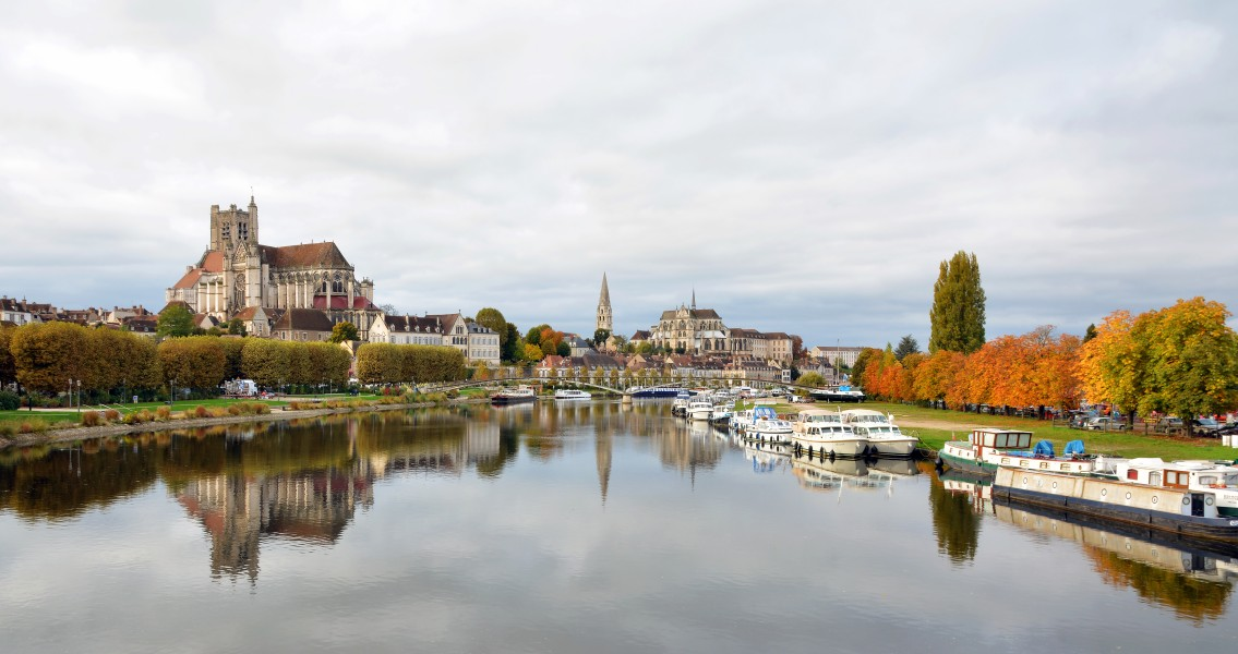 Panorama of Auxerre