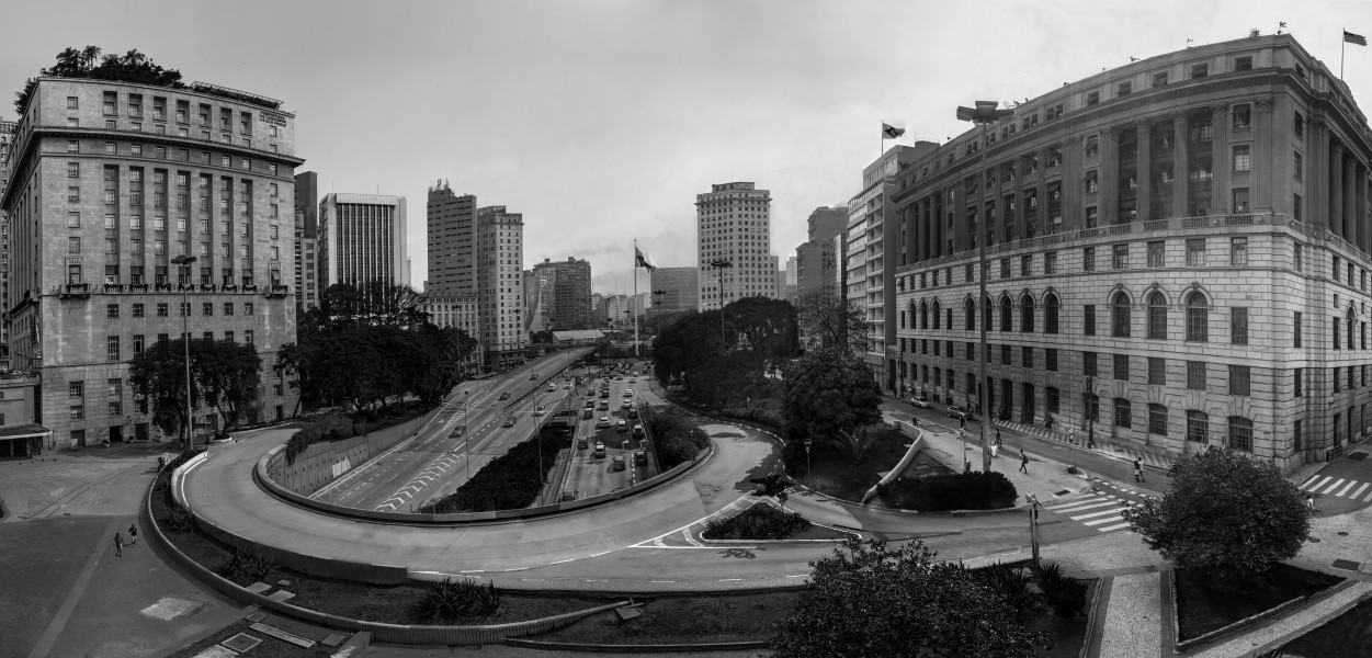 Panoramic view of São Paulo city center