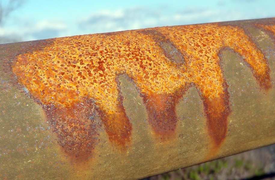 Pattern of rust on the rail