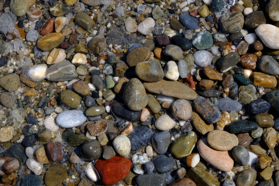 Pebbles in Rethymno's beach