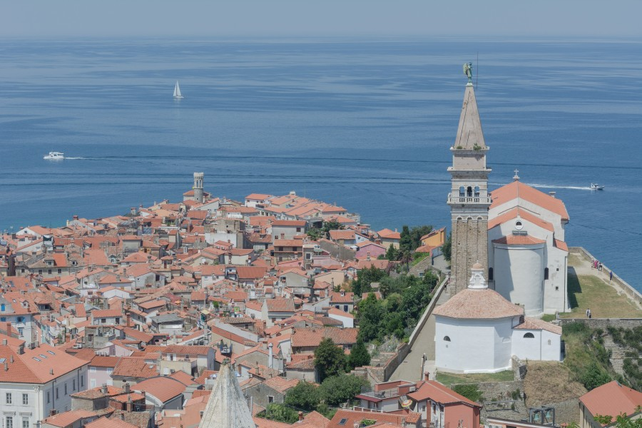 Piran old town St George
