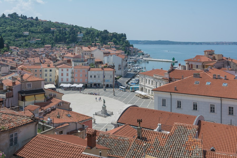 Piran Tartini square from cathedral