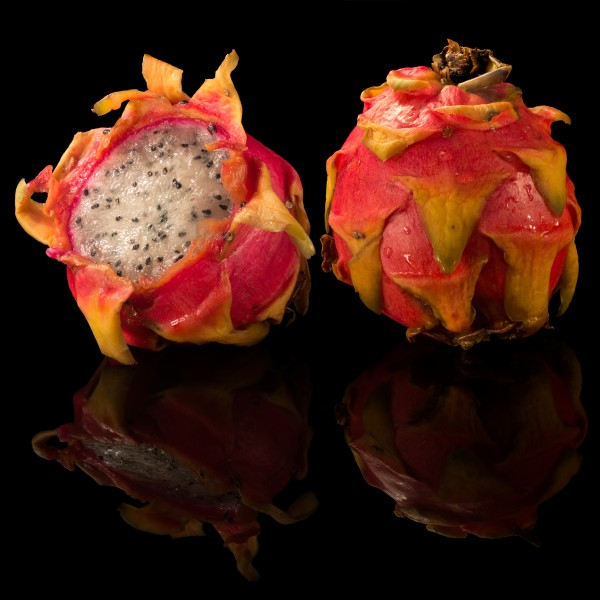 Pitaya on black background