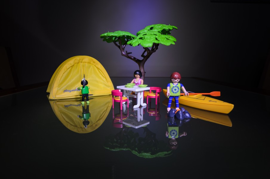 Playmobil. Camping out