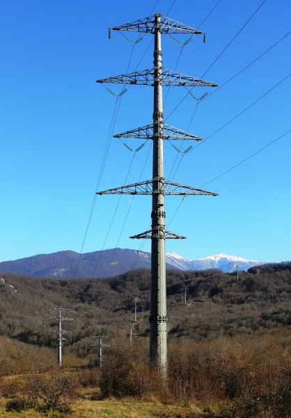 Power line in Sochi