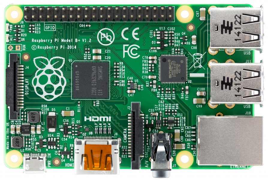 Raspberry Pi B+ top