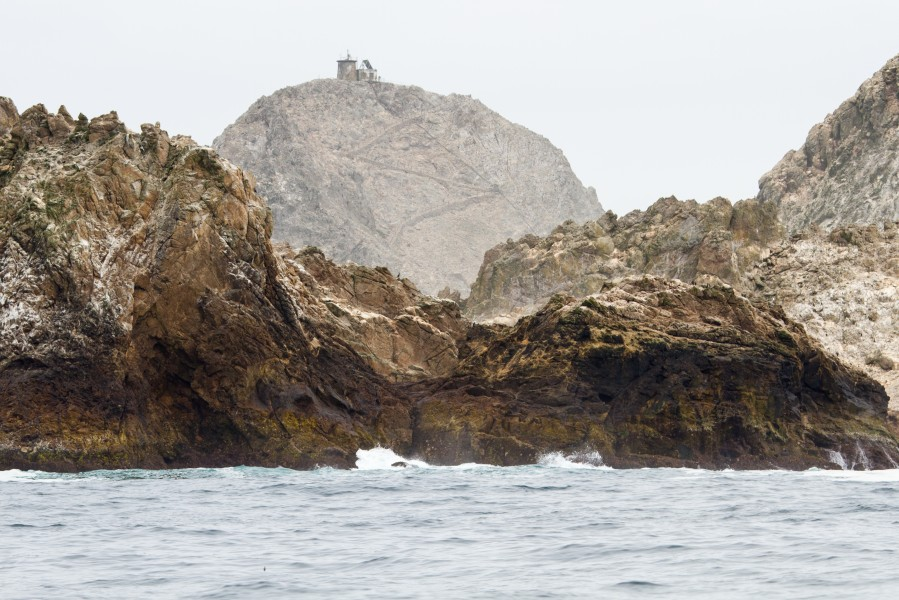 Remains of Farallon Islands Light in 2014