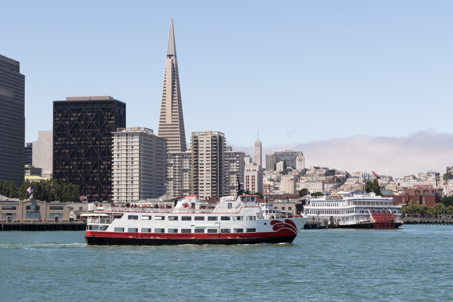 San Francisco harbor scene with Transamerica Pyramid