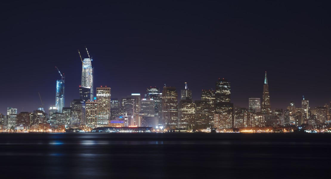 San Francisco skyline of April 2017 seen from Treasure Island