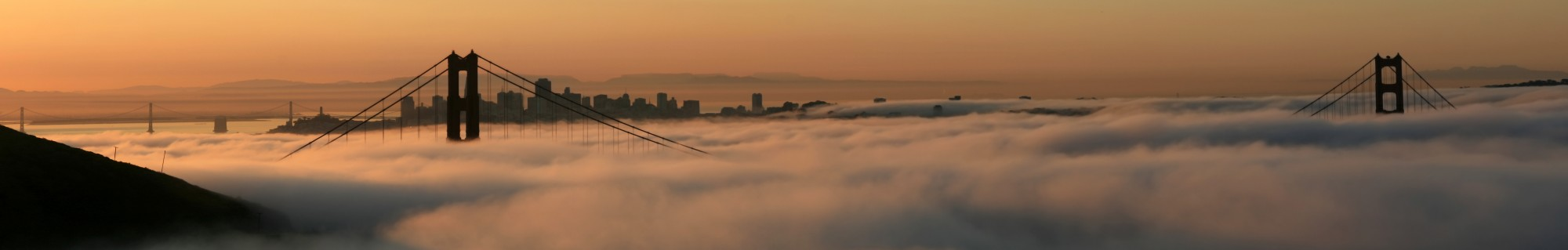 San Francisco with two bridges the fog and superior mirage