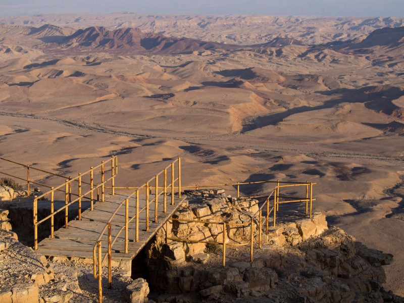 Scary bridge falling apart at Makhtesh Ramon (40582)