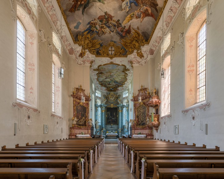 Schlosskirche, Bad Mergentheim, Nave 20150726 1