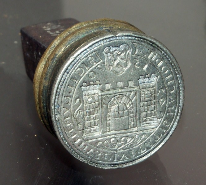 Seal of Náchod town from 1570 (small)