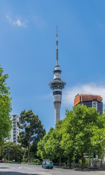 Sky Tower from Mayoral Drive